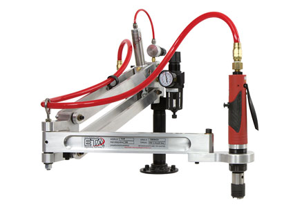 Tap Arm, 1 HP Air Powered Tap Motor, BILZ Tap Chuck and Air Prep